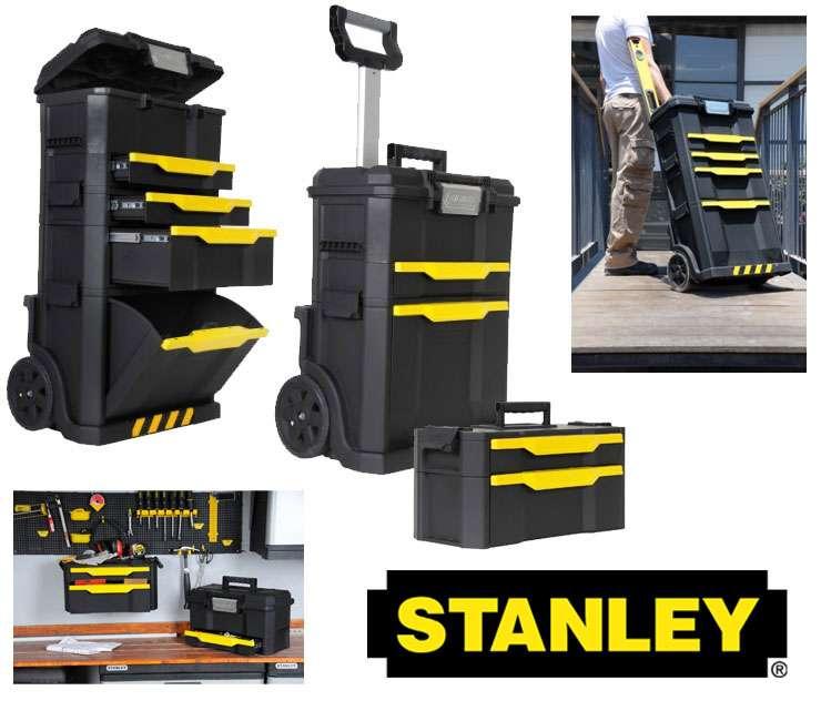 Nuovissimo trolley stanley 1 79 206 3 pezzi porta attrezzi - Cassetta porta attrezzi stanley con ruote ...